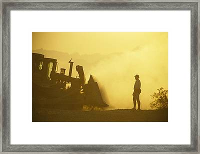 A Biologist Watches For Desert Framed Print by Joel Sartore