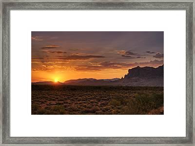 A Bit Of Desert Beauty  Framed Print by Saija  Lehtonen