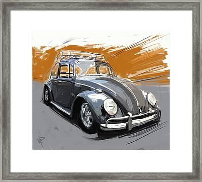 A Black Bug Framed Print by Russell Pierce