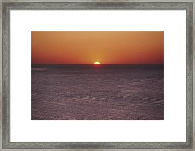 A Brillant Orange Sun, Painting Framed Print by James L. Stanfield