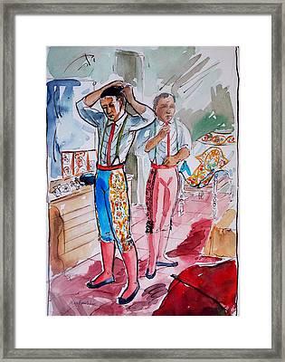 A Bullfighter's Dressing Room Framed Print by Bill Joseph  Markowski