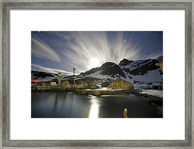 A Catcher Boat Lies Stranded At An Framed Print by Paul Nicklen