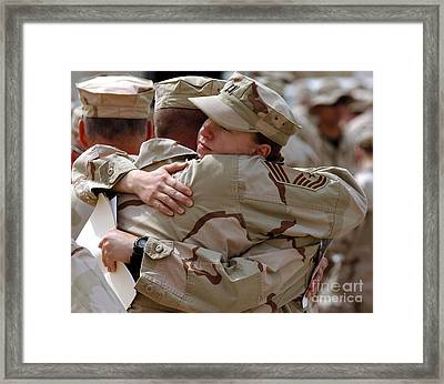A Chief Master Sergeant Consoles Framed Print by Stocktrek Images