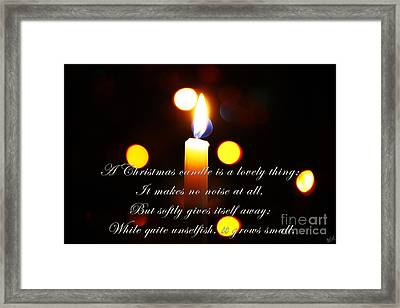 A Christmas Candle Greeting Framed Print by Nishanth Gopinathan