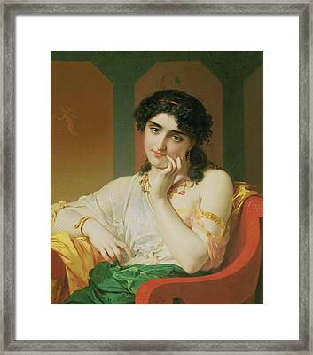 A Classical Beauty Framed Print by Oliver Joseph Coomans