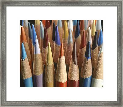 A Close View Of A Cluster Of Sharpened Framed Print by Raul Touzon