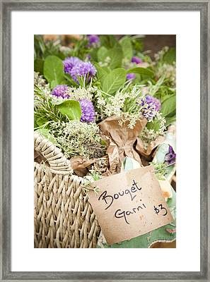 A Close View Of Cooking Herbs Framed Print by Taylor S. Kennedy