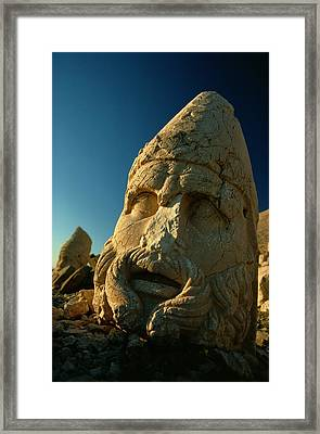 A Close View Of The Head Of The Greek Framed Print by Gordon Gahan
