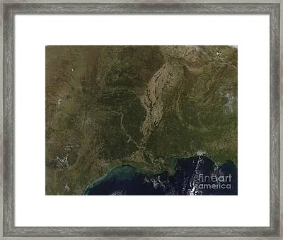 A Cloud-free View Of The Southern Framed Print by Stocktrek Images