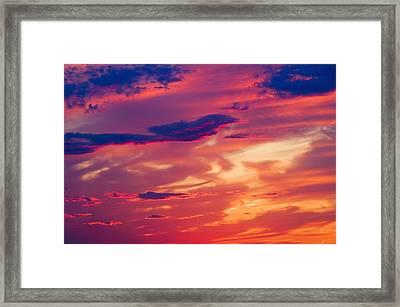 A Colorful Sky Framed Print by Carson Ganci