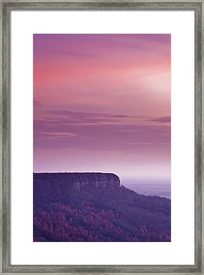 A Colourful Sunset Over Sutton Bank Framed Print by Julian Elliott Ethereal Light