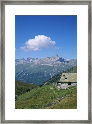 A Cow Herders Mountain Hut High Framed Print by Taylor S. Kennedy