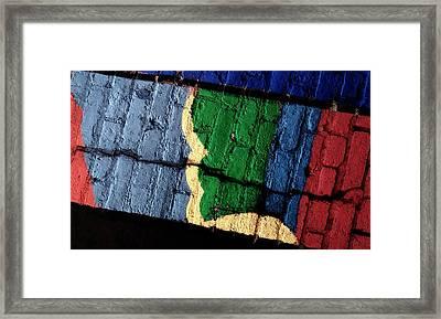 A Crack Runs Through It - Urban Rainbow Framed Print by Steven Milner