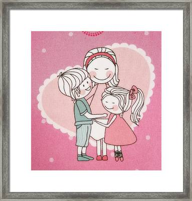 A Cute Cartoon. Framed Print by Panyanon Hankhampa