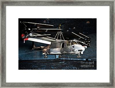 A Cv-22 Osprey Hangs In A Anechoic Framed Print by Stocktrek Images