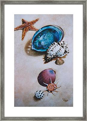 A Day At The Beach Framed Print by Eve Riser Roberts