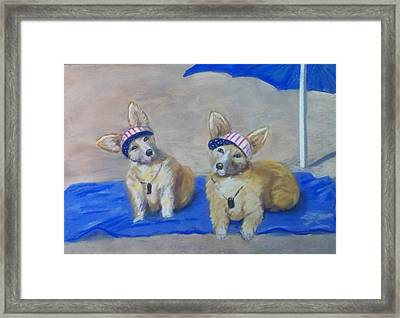 A Day At The Beach Framed Print by Trudy Morris