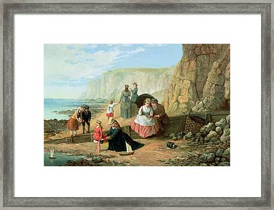 A Day At The Seaside Framed Print by William Scott