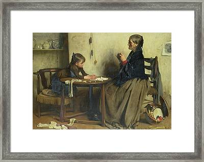 A Difficulty Framed Print by Arthur Hacker