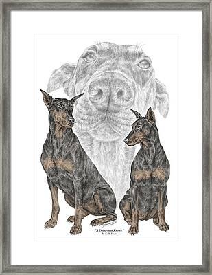 A Doberman Knows - Dobe Pinscher Dog Art Print Framed Print by Kelli Swan