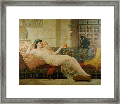 A Dream Of Paradise Framed Print by Frederick Goodall
