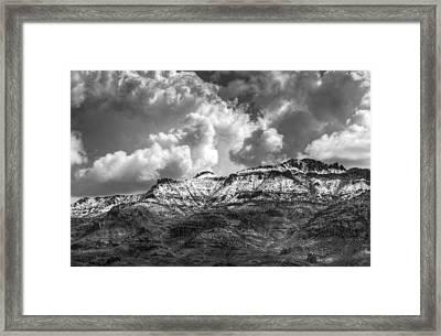 A Dusting Of Snow  Framed Print by Saija  Lehtonen