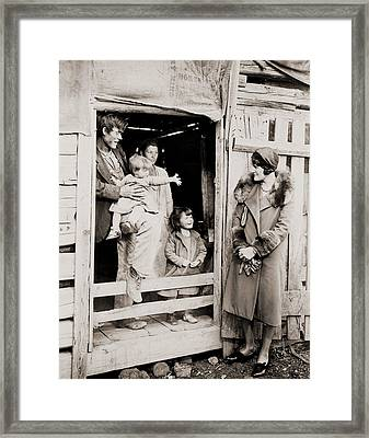 A Family Of Poor Sharecroppers Framed Print by Everett