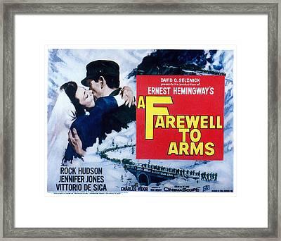 A Farewell To Arms, Jennifer Jones Framed Print by Everett