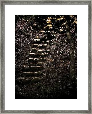 A Few More Steps Framed Print by Odd Jeppesen