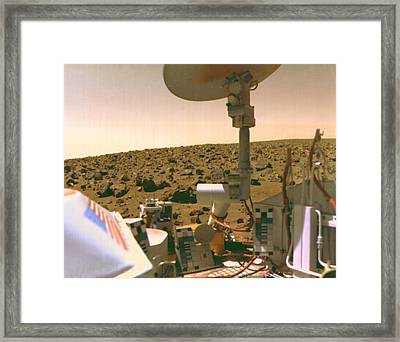 A Field Of Red Rocks Reaches Framed Print by Nasa