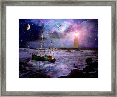 A Fishermans Tale Framed Print by Susie  Hawkins
