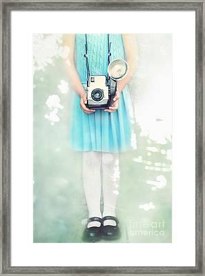 A Girl And Her Camera Framed Print by Stephanie Frey