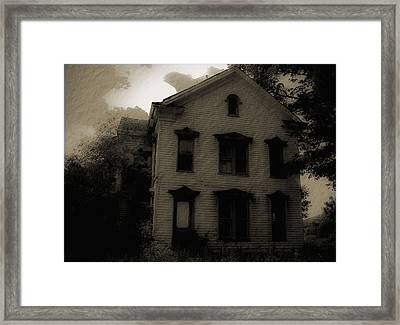 A Haunting Framed Print by DigiArt Diaries by Vicky B Fuller