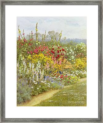 A Herbaceous Border Framed Print by Helen Allingham