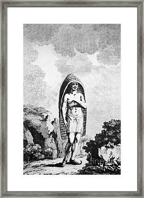 A Hindu Peasant Framed Print by Granger