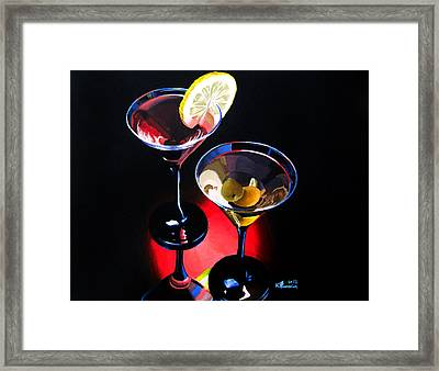 A Hint Of Lemon And Olives Framed Print by Kayleigh Semeniuk