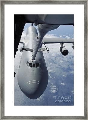 A Kc-10 Extender Prepares To Refuel Framed Print by Stocktrek Images