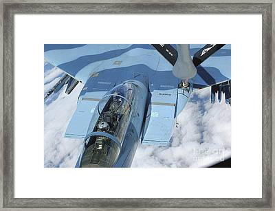 A Kc-135 Stratotanker Provides Framed Print by Stocktrek Images