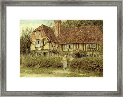 A Kentish Cottage Framed Print by Helen Allingham