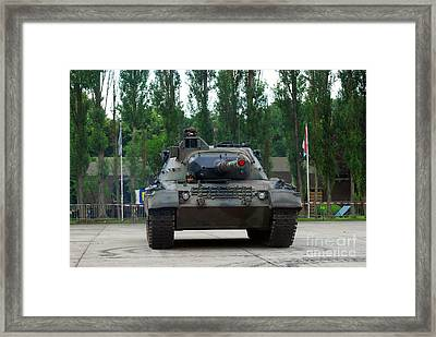A Leopard 1a5 Mbt Of The Belgian Army Framed Print by Luc De Jaeger