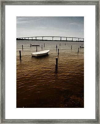 A Little Dingy Framed Print by Kelly Reber