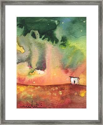 A Little House On Planet Goodaboom Framed Print by Miki De Goodaboom