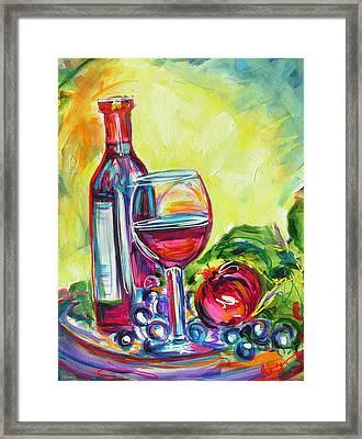 A Little Tipsy Framed Print by Judy  Rogan
