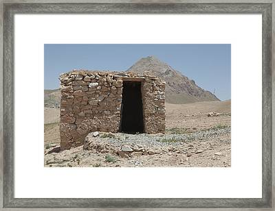 A Local Afghan Hut In The Mountains Framed Print by Everett