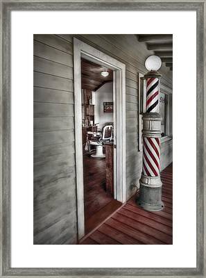 A Look Into The Past Framed Print by Susan Candelario