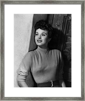 A Man Called Peter, Jean Peters, 1955 Framed Print by Everett