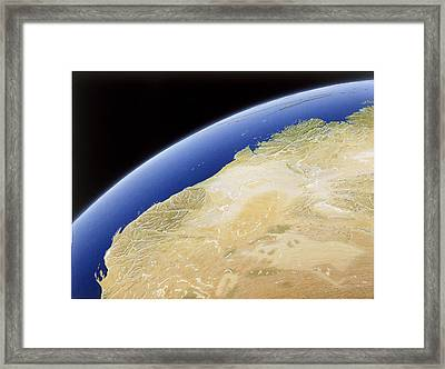 A Map Of Western Australia Framed Print by NG Maps