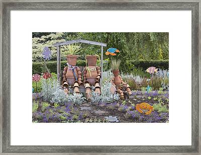 A Marine Garden Area In The Childrens Framed Print by Douglas Orton