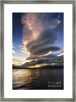 A Massive Stacked Lenticular Cloud Framed Print by Arild Heitmann