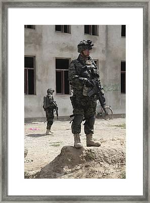 A Member Of The Republic Of Korea Framed Print by Stocktrek Images